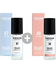 W.DRESSROOM Dress & Living Clear Perfume 70ml(No 97 April Cotton)+(No 49 Peach Blossom)