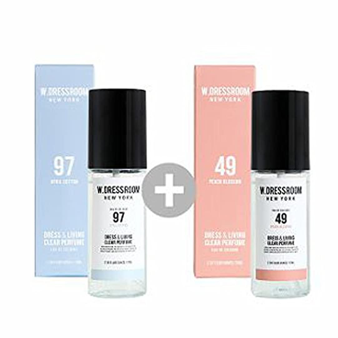 ペパーミント家事妻W.DRESSROOM Dress & Living Clear Perfume 70ml(No 97 April Cotton)+(No 49 Peach Blossom)