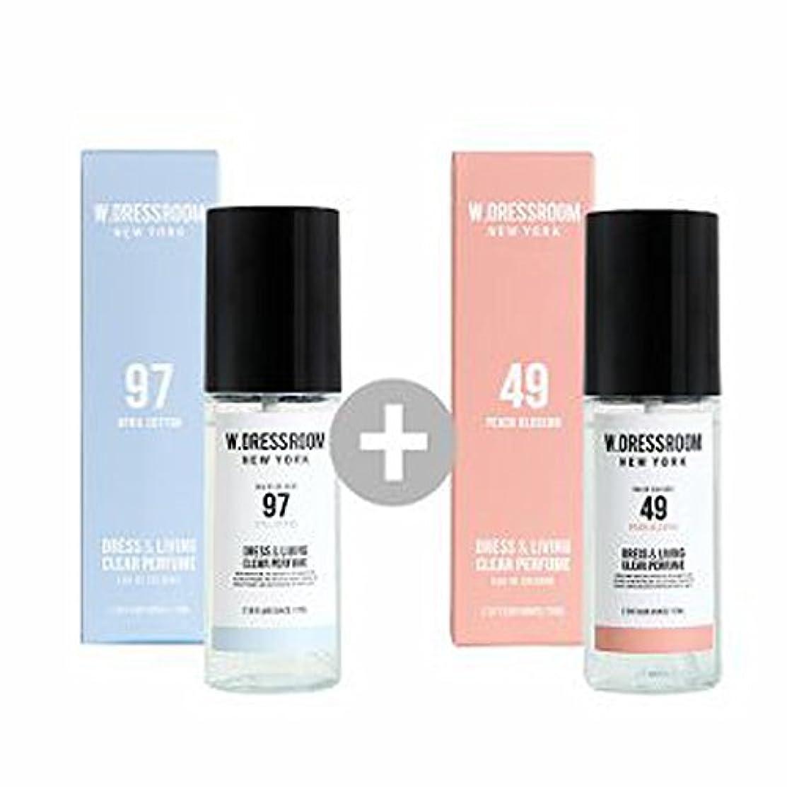 W.DRESSROOM Dress & Living Clear Perfume 70ml(No 97 April Cotton)+(No 49 Peach Blossom)