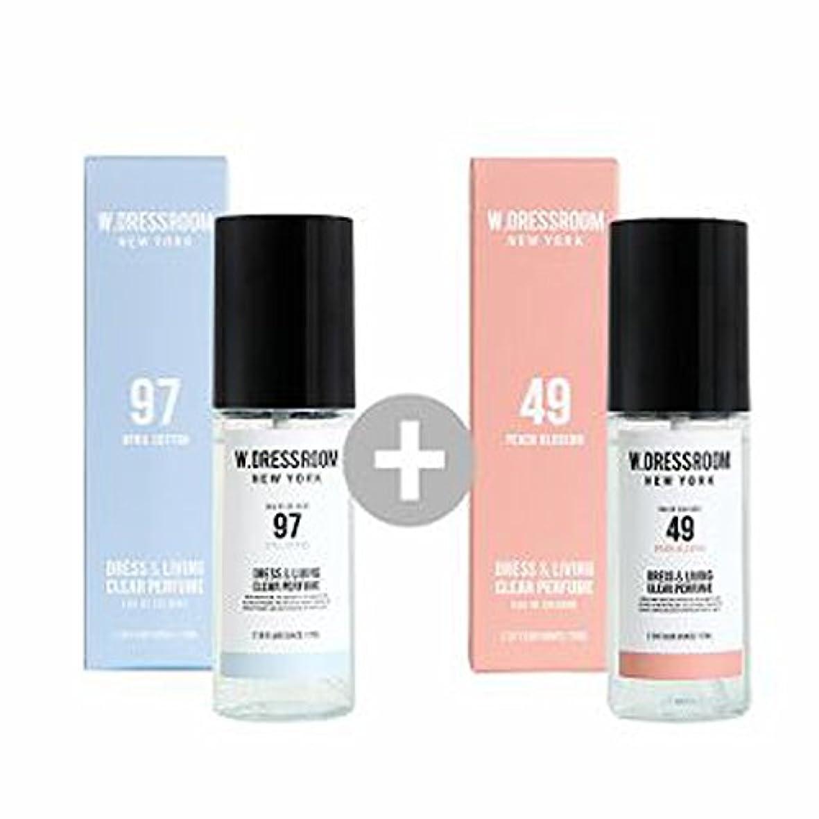 屋内で十年低いW.DRESSROOM Dress & Living Clear Perfume 70ml(No 97 April Cotton)+(No 49 Peach Blossom)