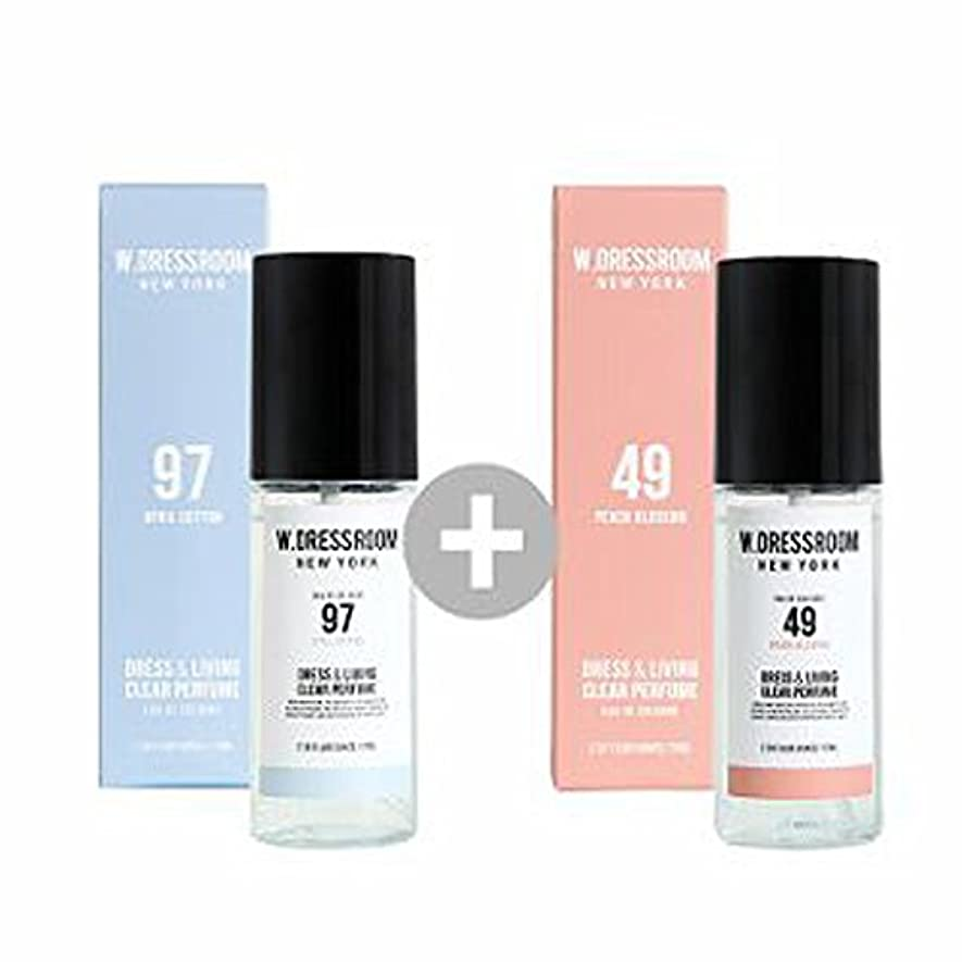 動員する最大温かいW.DRESSROOM Dress & Living Clear Perfume 70ml(No 97 April Cotton)+(No 49 Peach Blossom)