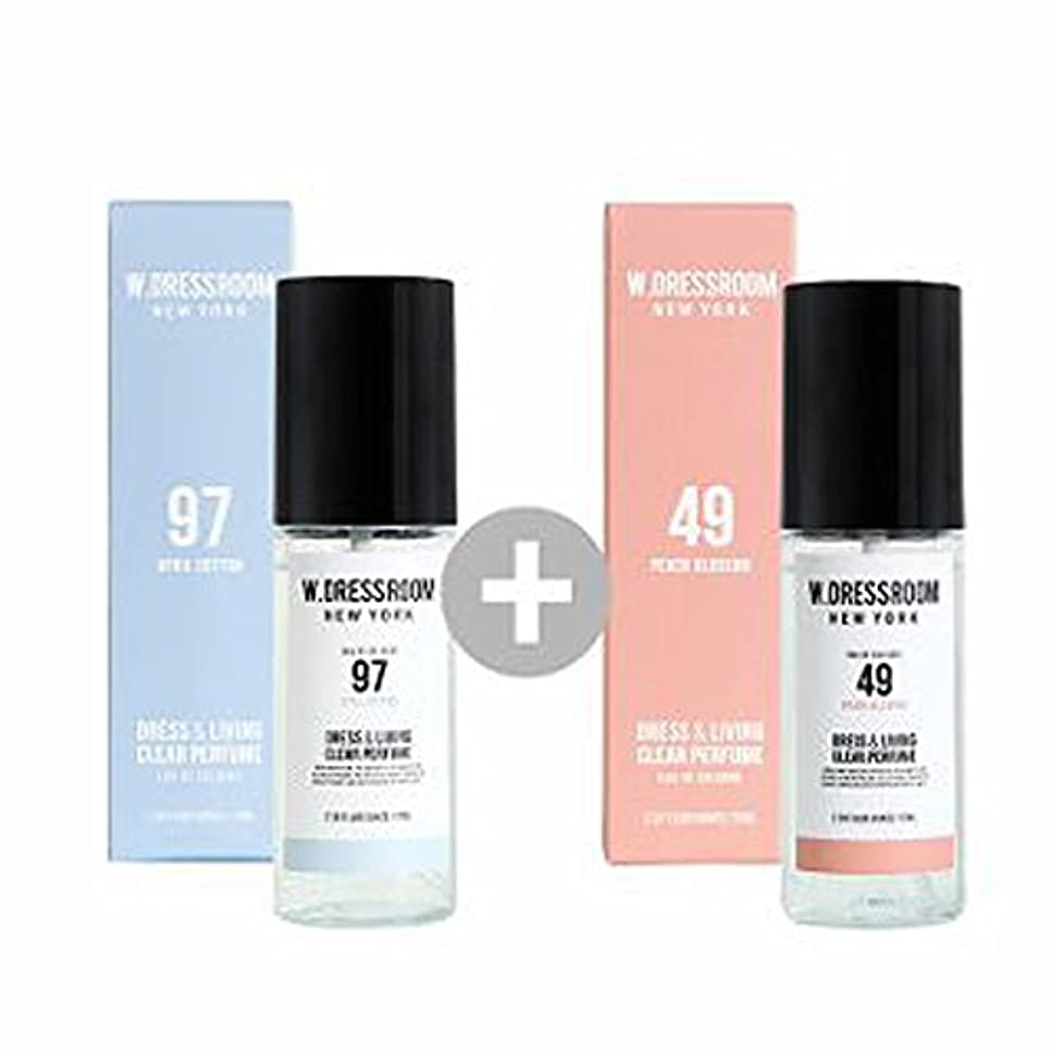 若者反響する電子W.DRESSROOM Dress & Living Clear Perfume 70ml(No 97 April Cotton)+(No 49 Peach Blossom)