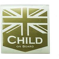 DK5 Child on board Sticker (ゴールド)