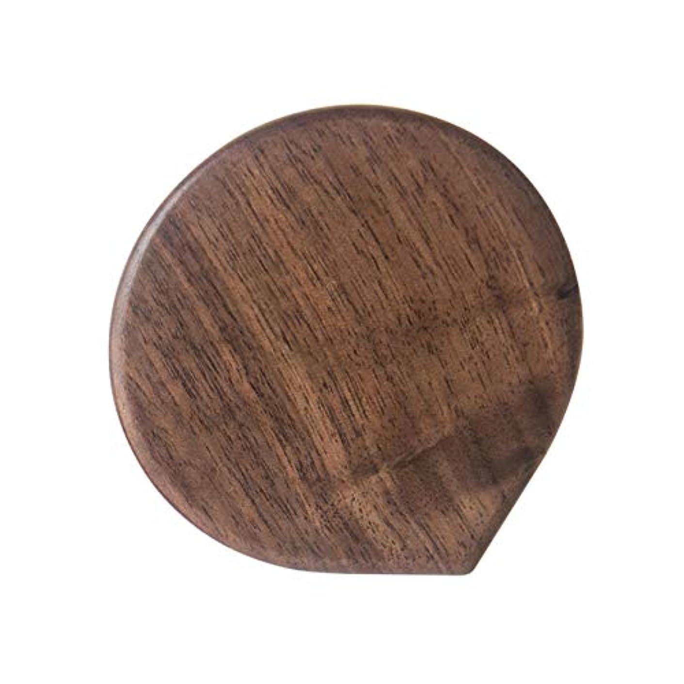 シーケンス農業近代化する手鏡 ミニミラー 化粧鏡 携帯ミラー コンパクト鏡 コンパクトミラー 木製 旅行用 持ち運び便利 おしゃれ コンパクトミラー 化粧ミラー 拡大鏡付 (A05)