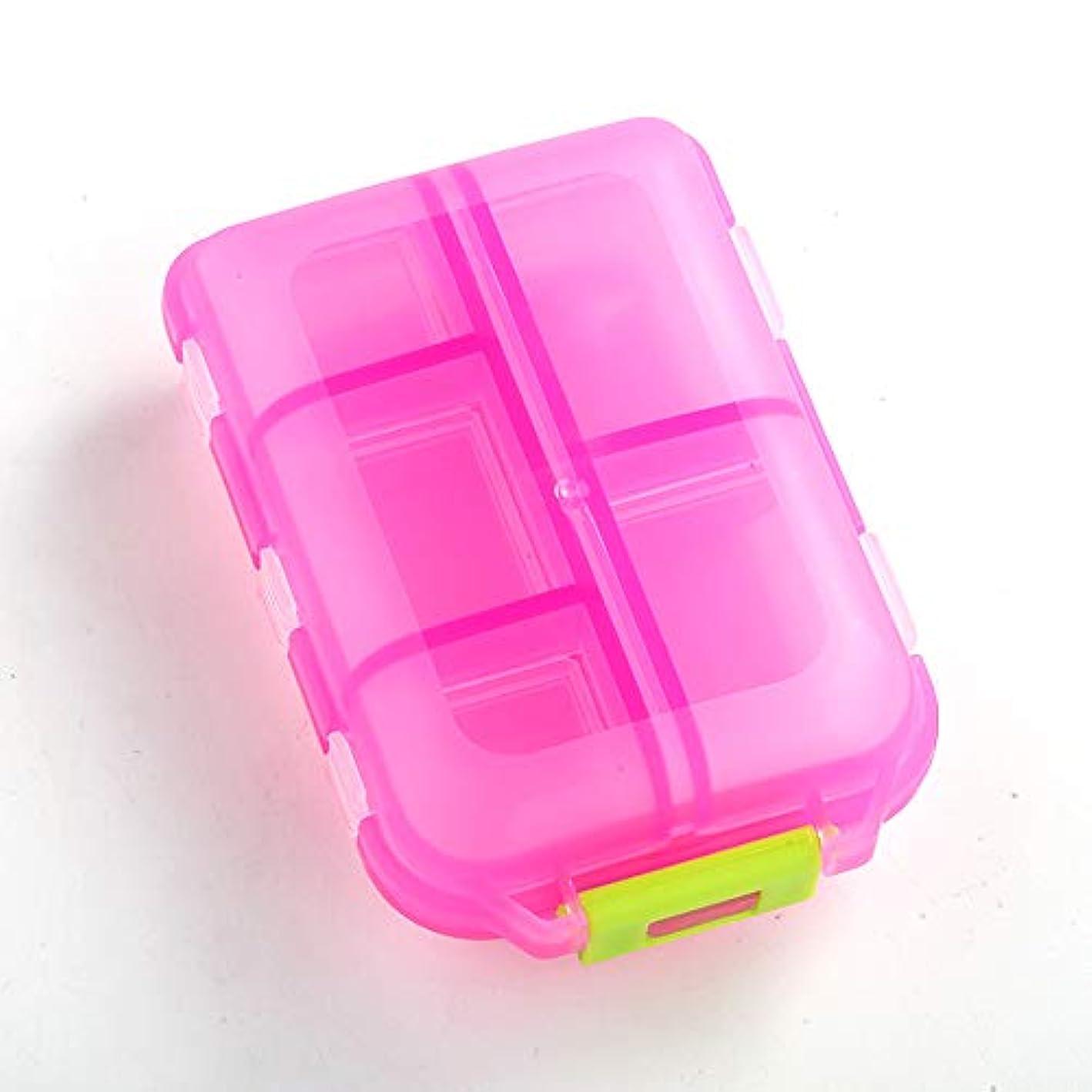 小さなピルボックスポータブルセパレーションキット調剤薬ピルウィークリーチャージボックスボックスダブル10
