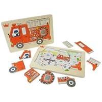 木製パズルシリーズ Fire truck puzzle
