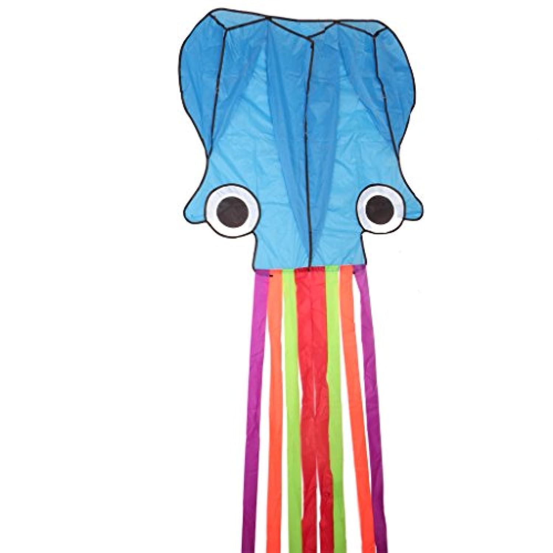 Lays 3dブルーOctopus flying kite with Single Lineアウトドアアクティビティゲーム子供ギフト