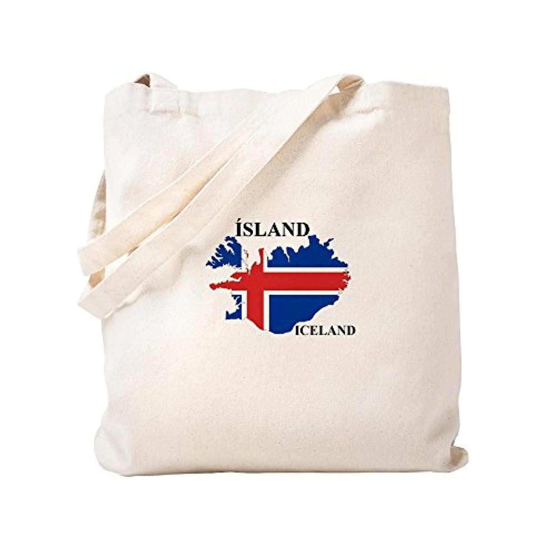 CafePress – icelandflagmap – ナチュラルキャンバストートバッグ、布ショッピングバッグ S ベージュ 1251088355DECC2
