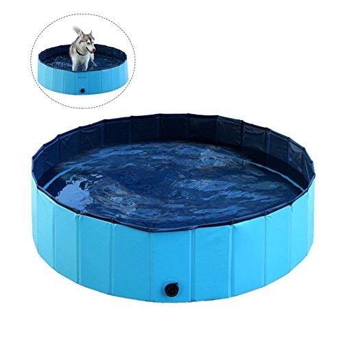ペットスイミングプール お風呂夏ポータブル折り畳み式入浴プール 大中小型犬に適用