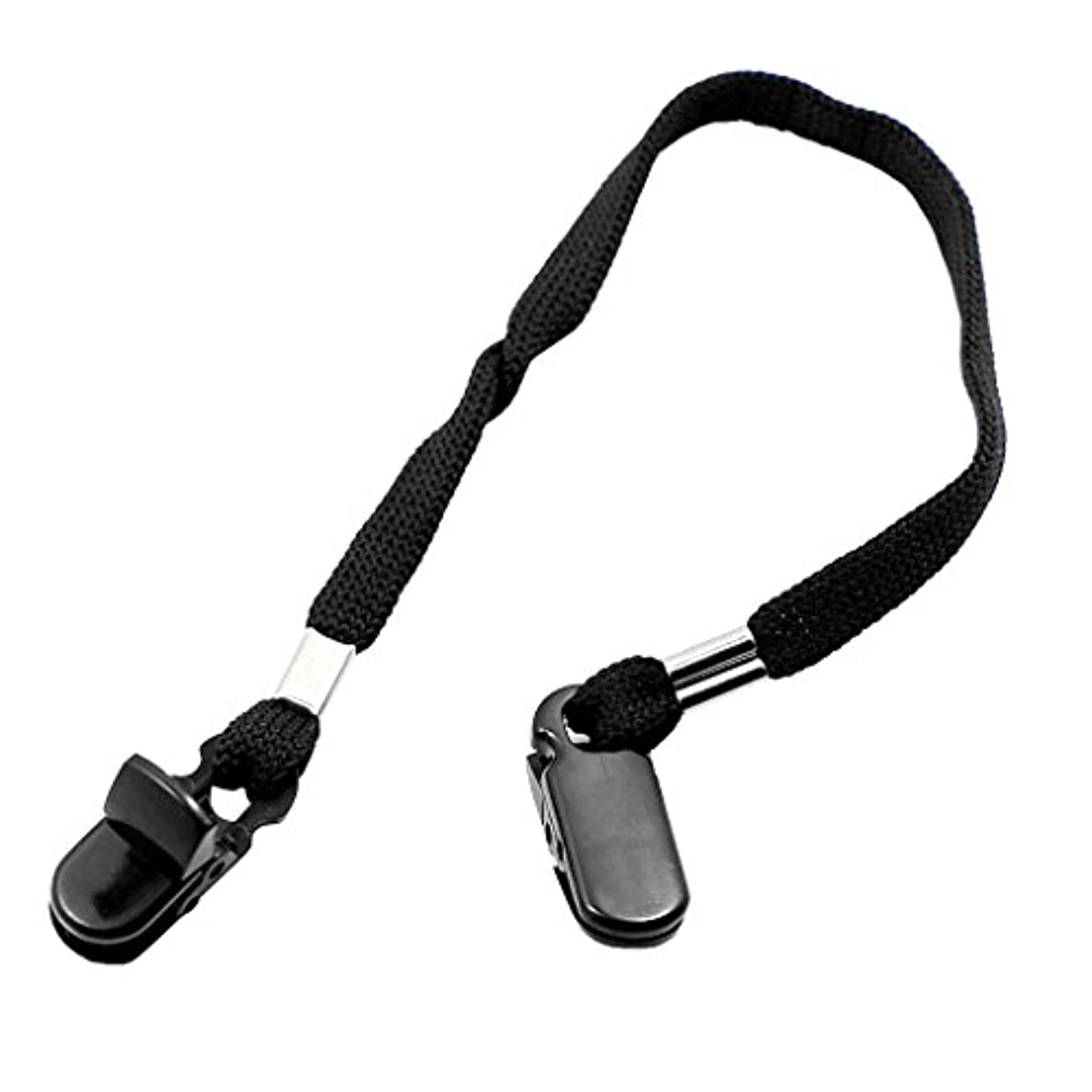 実装する嵐が丘サーキュレーションKOZEEY9mm 屋外 調節可能 帽子 スカーフ 風 クリップ ストラップロープ コード ハットクリップ 衣類- 黒