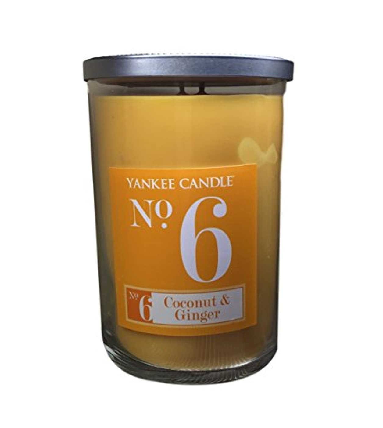 叫ぶレビュー説明的Yankee Candle No 6 Coconut & Ginger香りつきLarge 2 Wickタンブラー