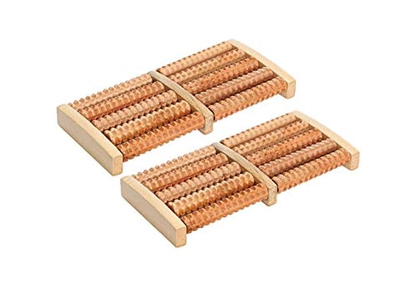 のため放棄する相談ほうねん堂 足つぼ ローラー 木製 足裏 マッサージ ツボ押し 健康器具 2個 セット