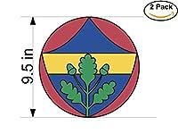 Fenerbahce Spor Kulubu Turkey Soccer Football Club FC 2ステッカー車バンパーウィンドウステッカーデカール大9.5インチ