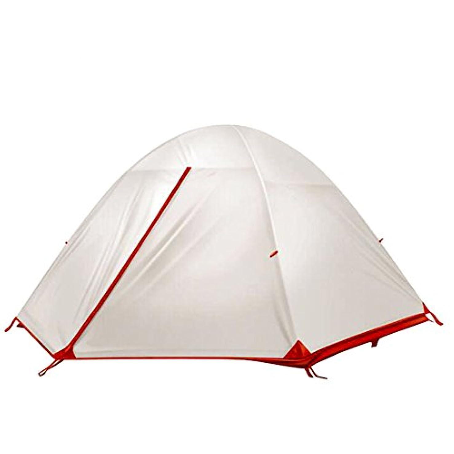 カリング粘性の架空のテント 2人用 シリコンコーディング 耐水圧5000 アルミポール 軽量 登山 キャンプ アウトドア用