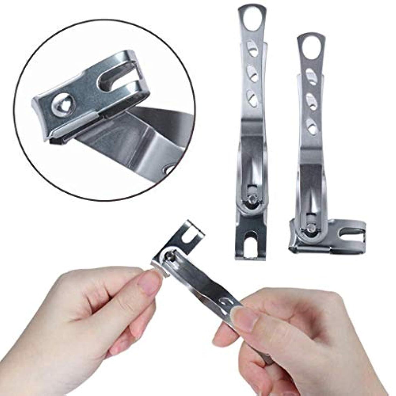 ツール追う冷える360度回転ネイルバリカン、430ステンレス鋼ペンチ指のつま先ネイルはさみマニキュアツール