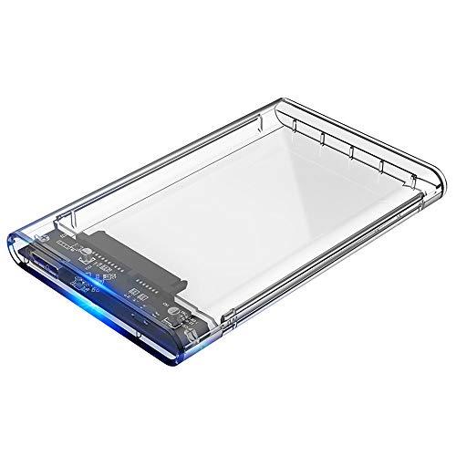 ELUTENG 2.5インチ HDD SSD ケース USB3.0高速 透明 外付けハードディスク ドライブケース UASP対応 SATA U...
