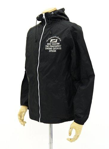 ブラックラグーン ソードカトラスフーデッドウインドブレーカー ブラック サイズ:XL