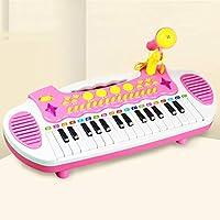 LINRUI-TOY 子供の電子ピアノ赤ちゃん幼児教育音楽ピアノマイク付き啓発玩具ピアノ3-6歳 (色 : Pink)