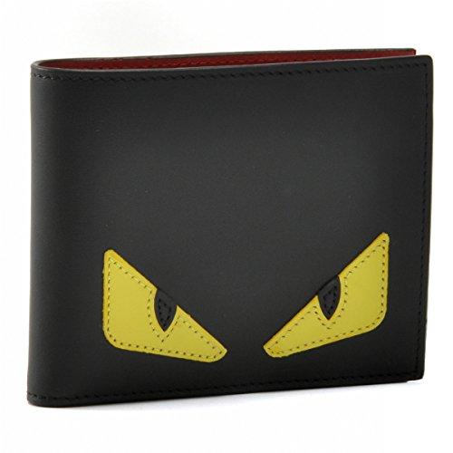 FENDI(フェンディ) 財布 メンズ MONSTER 2つ折り財布 ブラック 7M0001-O73-F0U9T [並行輸入品]