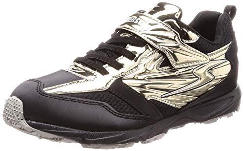 [スーパースター] 運動靴 通学履き 19cm~24.5cm マジック キッズ SS J887 ゴールド 22 cm 2E