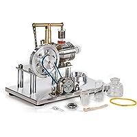 TOPTOMMY ホットエアースターリングエンジン知育玩具 スターリングエンジンモーター 模型キット 表面メッキ 知育 科学 実験器材 物理おもちゃ