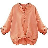 [アナトレ] レディース スキッパーシャツ 袖ボタン付き 長袖 7分袖 調整可 カシュクール ブラウス 全4色 S~5XL