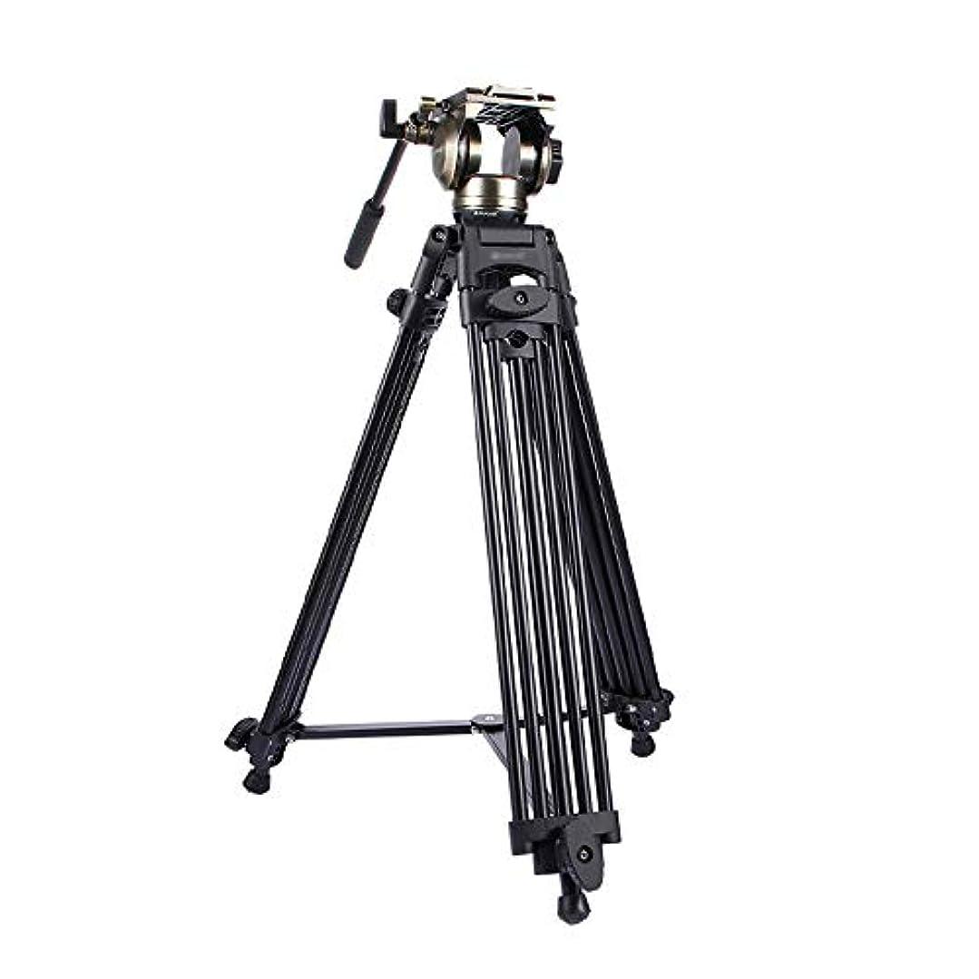 と遊ぶ連邦海上カメラ三脚 3では1(三脚+ボールアダプタ+黒フルードドラッグヘッド)DSLR/SLRカメラ用のヘビーデューティビデオカムコーダーアルミ合金三脚マウントキット カメラアクセサリー (Color : Gold, Size : One size)