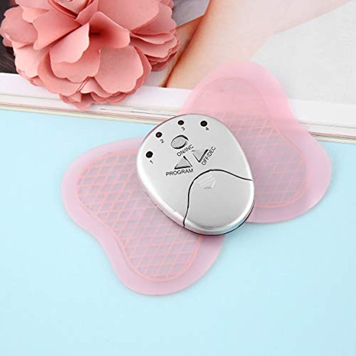 吹きさらし壊滅的な議題Mini Electronic Body Muscle Butterfly Massager Slimming Vibration Fitness Professional Health Care Two Colors...