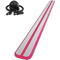toogouバランスビームパープル16フィート体操床梁、インフレータブル、持ち運び簡単すべてのレベルスキルパフォーマンストレーニング
