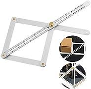 Corner Angle Finder, Multi Angle Measurement Tool Bevel & Corner Protractor Angle Divider for Craftsmen, Builders, Handymen