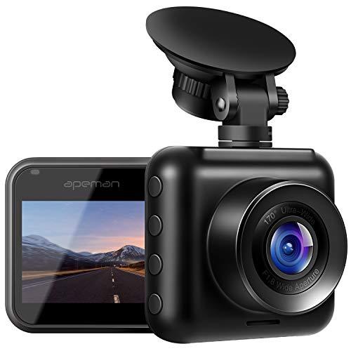【改良版】APEMAN ドライブレコーダー 車載カメラ Gセンサー WDR機能搭載 高画質 1080PフルHD 170度広角 常時録画 駐車監視 上書き録画 動き検知 衝撃録画 高速起動 バッテリー内蔵