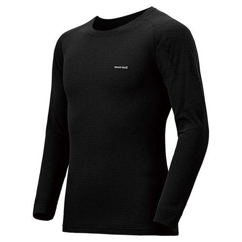 (モンベル)mont-bell ジオラインM.W.ラウンドネックシャツ Men's 1107282 ブラック(BK) L