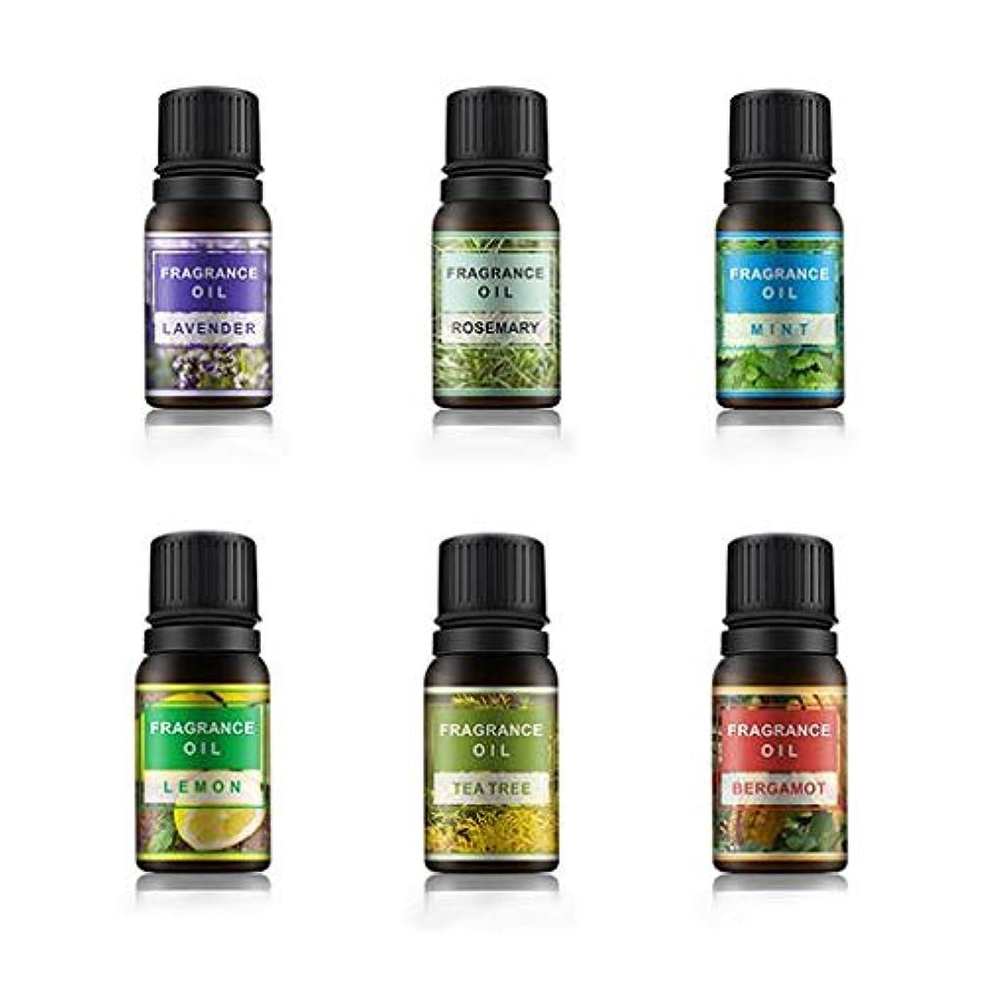 静める数名前Lioncorek エッセンシャルオイル オイル アロマオイル 精油 水溶性 ナチュラル フレグランス 100%純粋 有機植物 加湿器用 6種の香りセット
