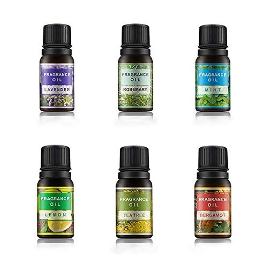 Lioncorek エッセンシャルオイル オイル アロマオイル 精油 水溶性 ナチュラル フレグランス 100%純粋 有機植物 加湿器用 6種の香りセット