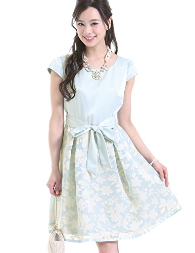 プールヴー パーティードレス ワンピース ドレス お呼ばれ 女子会 レディース サックス XLサイズ 13号