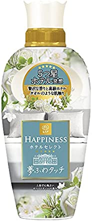 【新】 レノア ハピネス 夢ふわタッチ 5つ星ホテル発想 柔軟剤 上品で心地よいホワイトティーの香り 本体 480mL