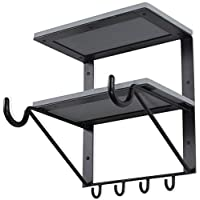 Wallniture Byko Wall Mounted Bicycle Storage Rack Shelf ? Horizontal Bike Hook Holder with Shelves Gray [並行輸入品]