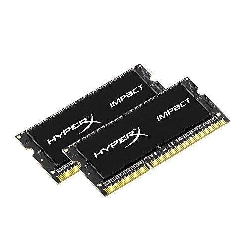 キングストン Kingston ノート用 オーバークロック PCメモリ DDR3L-1600 (PC3L-12800) 8GBx2枚 HyperX Impact CL9 1.35V Non-ECC SO-DIMM 204pin HX316LS9IBK2/16 永久保証