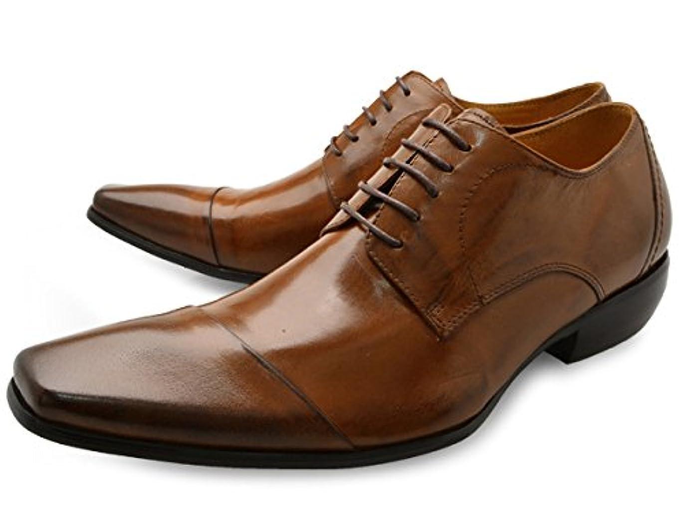階段施設販売計画[ バンプ アンド グラインド ] Bump N' GRIND bg-4000 ロングノーズ ビジネスシューズ 外羽根 紐タイプ メンズ [ 茶 ブラウン 本革 レザー ] BROWN LEATHER 革靴 紳士靴 ドレスシューズ