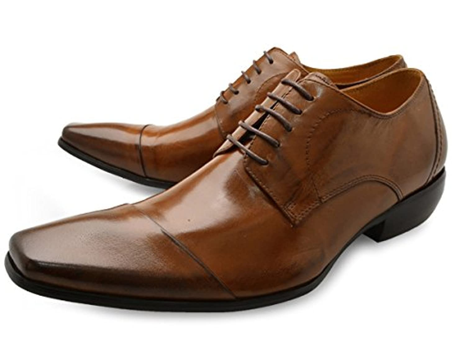 会員電話をかけるリスト[ バンプ アンド グラインド ] Bump N' GRIND bg-4000 ロングノーズ ビジネスシューズ 外羽根 紐タイプ メンズ [ 茶 ブラウン 本革 レザー ] BROWN LEATHER 革靴 紳士靴 ドレスシューズ