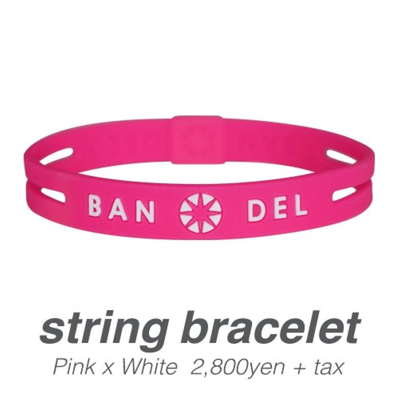 存在作成するかき混ぜる[バンデル?BANDEL]ストリングブレスレット?string bracelet(PinkxWhite?ピンク×ホワイト)