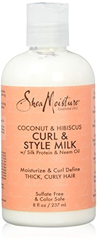 不十分喉頭リビジョンShea Moisture Coconut & Hibiscus Curl & Style Milk 8oz
