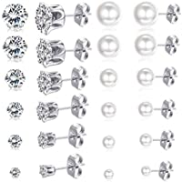 Spiritlele 20 Pairs Star Angel Wings Elephant Stud Earrings Set Crystal piercing Earrings Pack for Women Girls