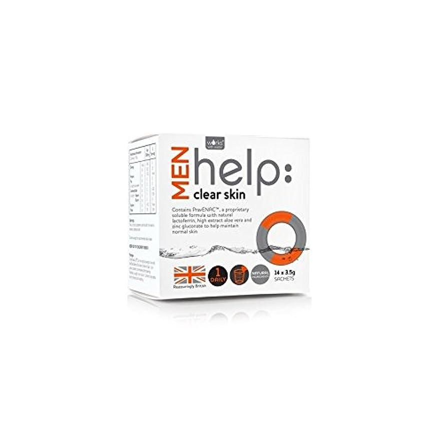放射するジョイント指紋Works With Water Men's Help: Clear Skin Soluble Supplement (14 X 3.5G) (Pack of 6) - クリアな肌可溶性サプリメント(14 3.5グラム)...