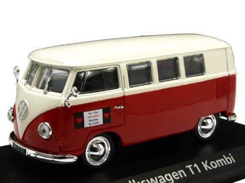 Norev 1/43 VW T1 コンビ 1955 ホワイト/レッド