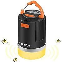 Lanktoo LEDランタン 充電式 usb 暖色 蚊よけ キャンプ ランタン 12800mAhモバイルバッテリー 防災 夜釣り