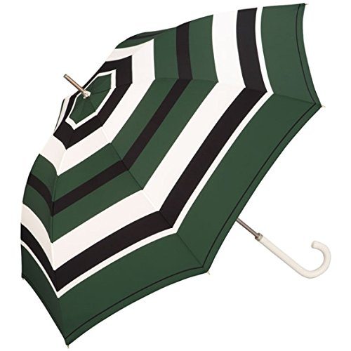 w.p.c(WPC) 【長傘】【軽くて丈夫で持ちやすい】ディープカラーボーダー (雨傘/レディース)【グリーン/58】