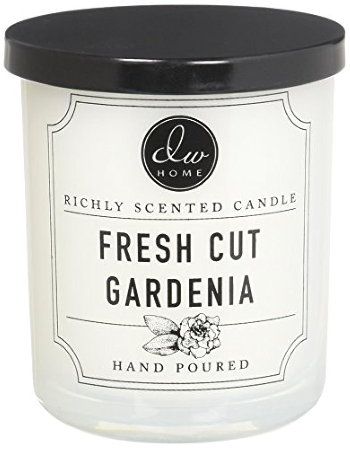 やる書士渇きDWホームFresh Cut Gardenia豊かな香りCandle Small Single Wick 4オンス