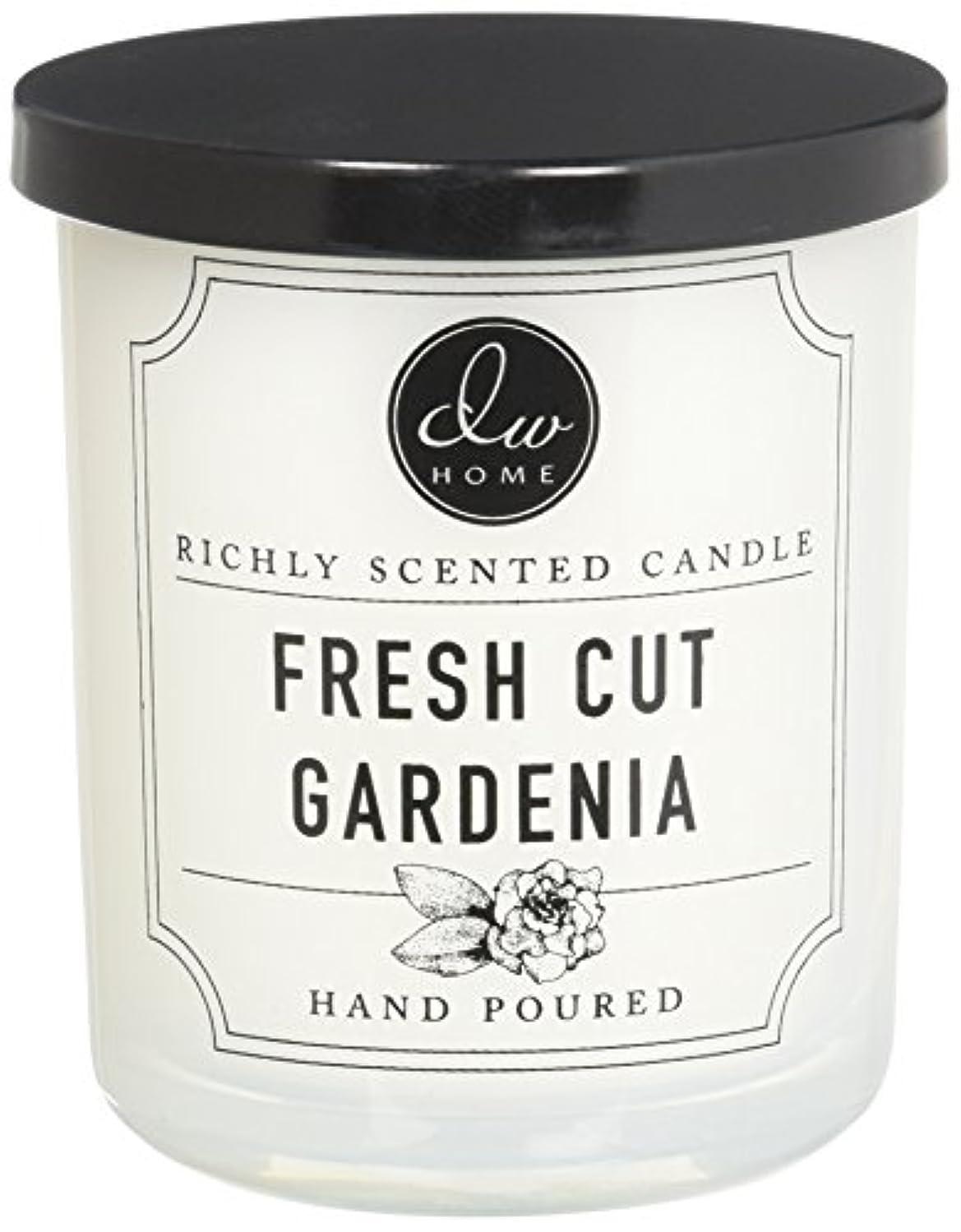 疾患ニッケル可能DWホームFresh Cut Gardenia豊かな香りCandle Small Single Wick 4オンス