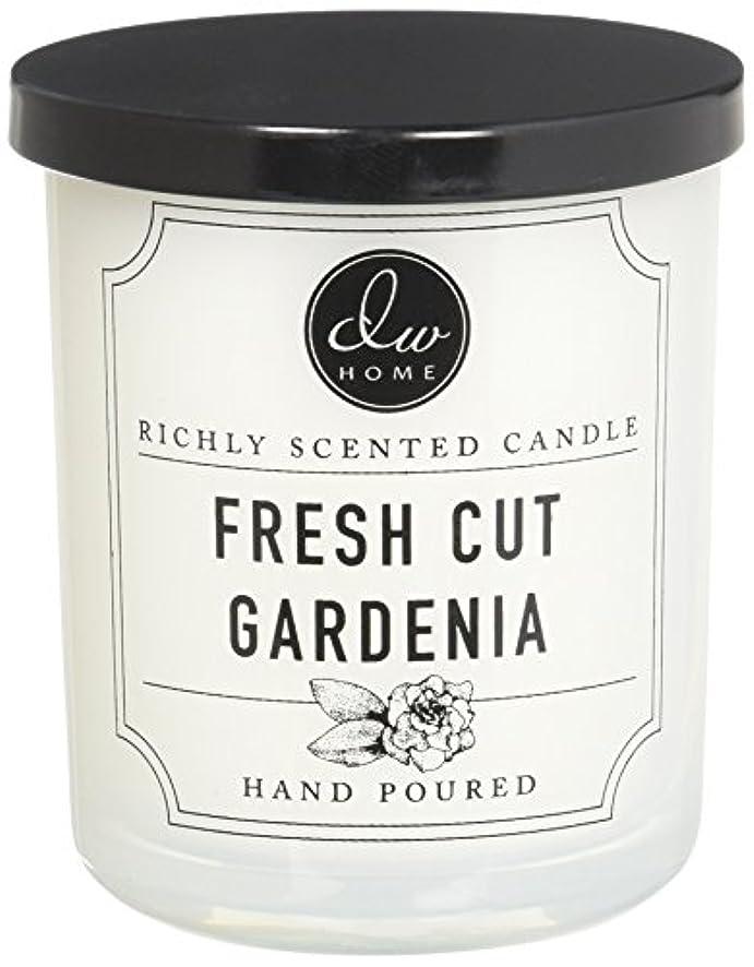 永久に日偽造DWホームFresh Cut Gardenia豊かな香りCandle Small Single Wick 4オンス